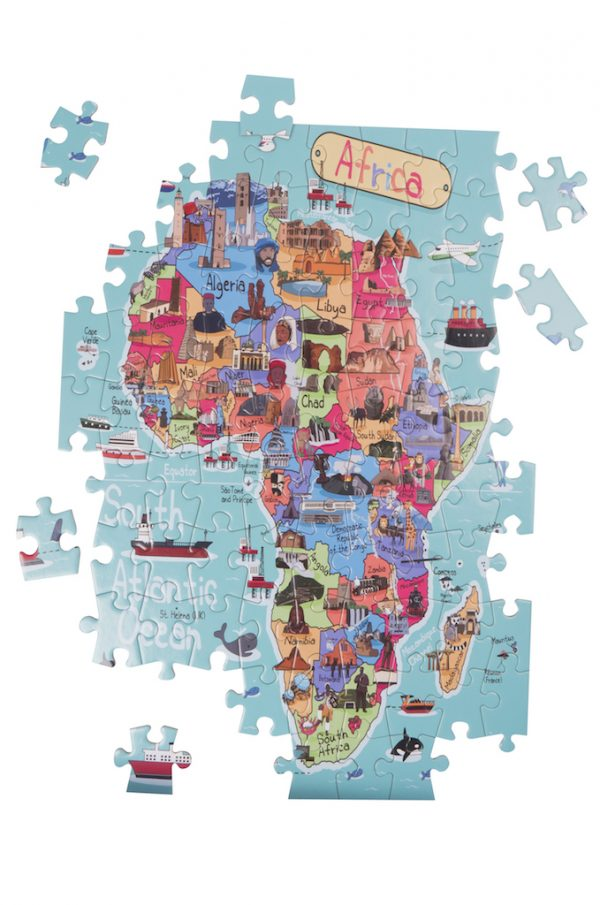 Africa Map Giant Jigsaw Puzzle 3