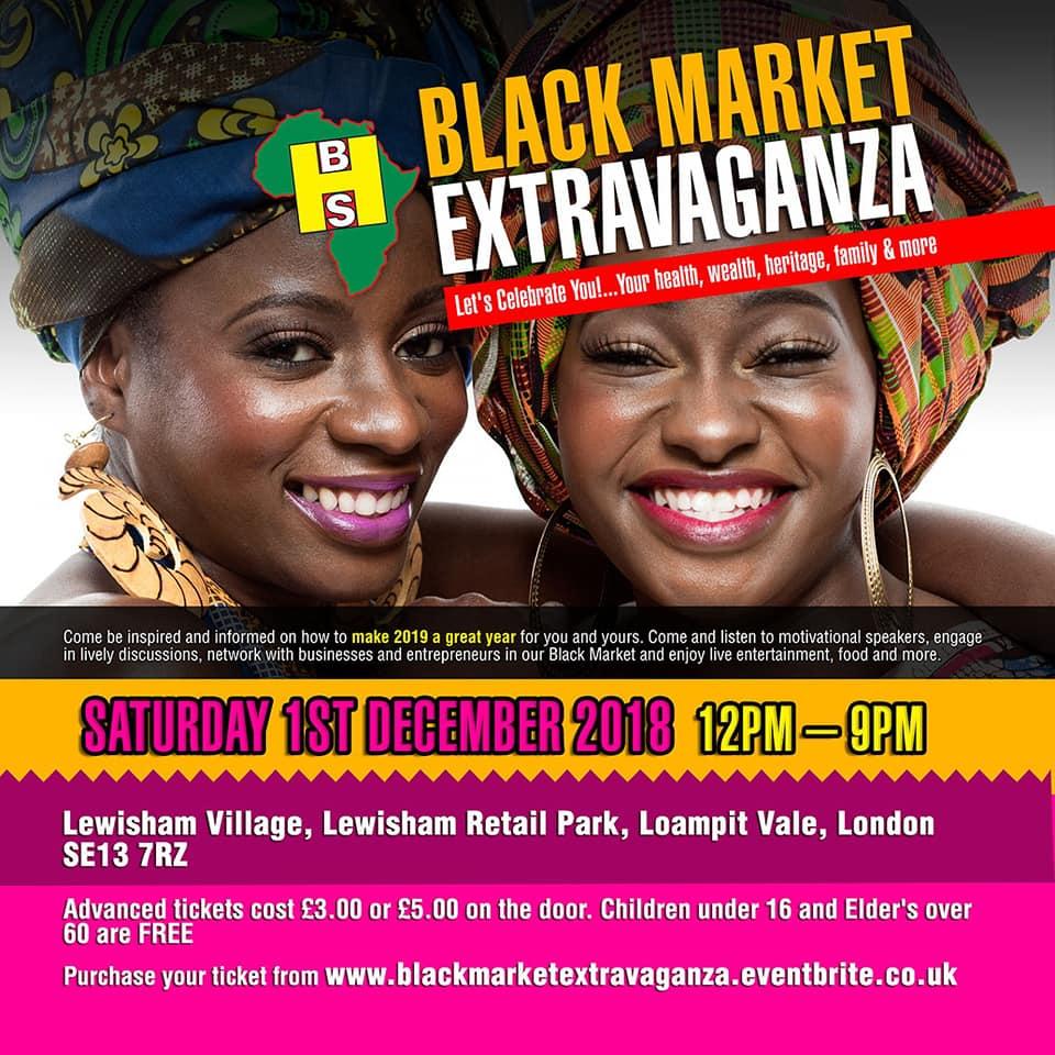 A5 Black Market Extravaganza flyer front- WEB