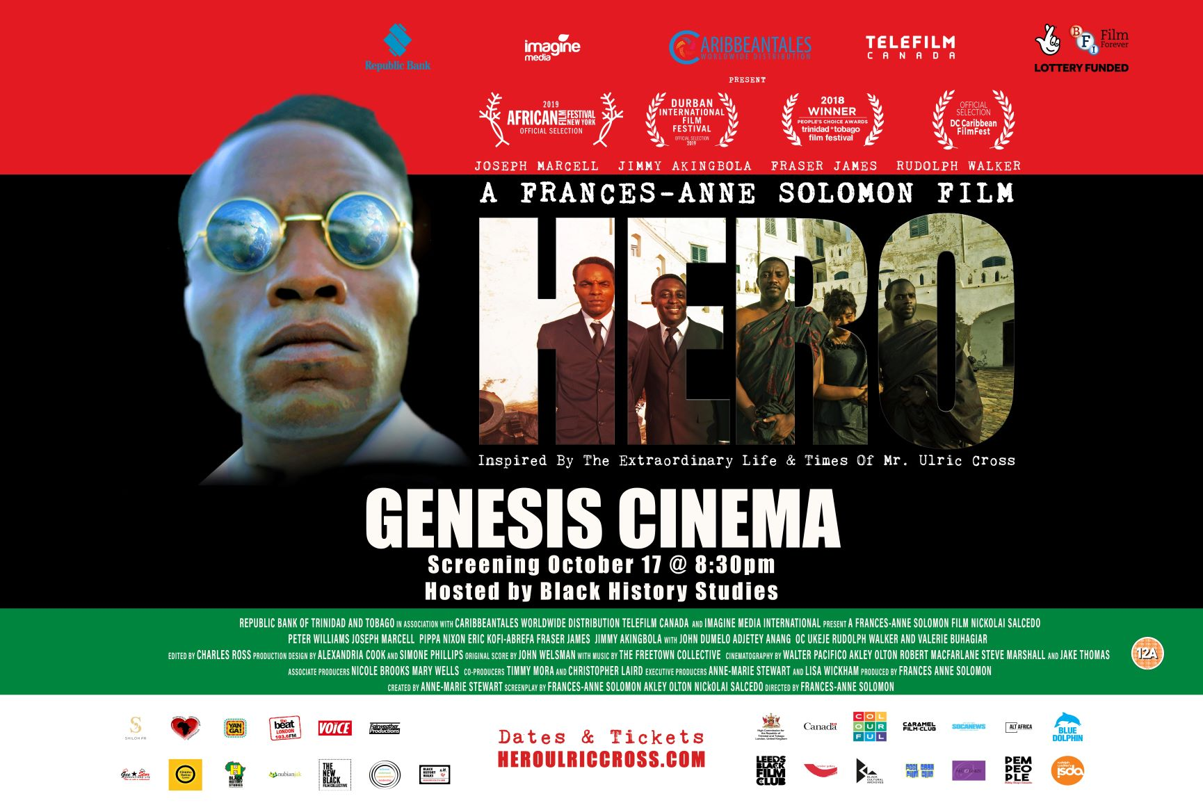 BHM  Screening of HERO – Inspired by the Extraordinary Life and Times of Ulric Cross