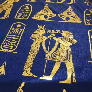 Egyptian Hieroglyphics Big Shawl / Oversized Scarf – Blue