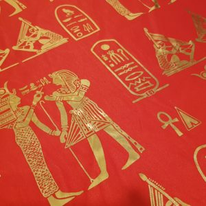 Egyptian Hieroglyphics Big Shawl / Oversized Scarf – Orange