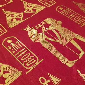 Egyptian Hieroglyphics Big Shawl / Oversized Scarf – Red
