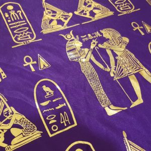 Egyptian Hieroglyphics Big Shawl / Oversized Scarf – Purple