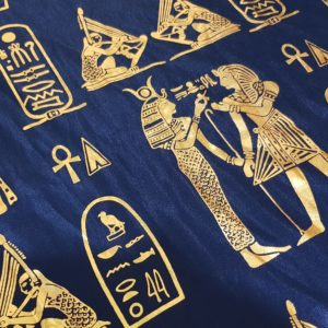 Egyptian Hieroglyphics Big Shawl / Oversized Scarf – Dark Blue