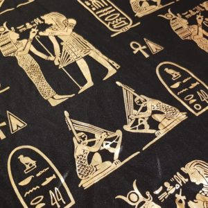 Egyptian Hieroglyphics Big Shawl / Oversized Scarf – Black