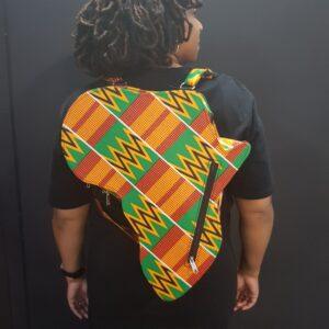 Kente African Map Backpack