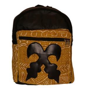 Bogolan Afrocentric Faux Leather Rucksack – Akofena Symbol