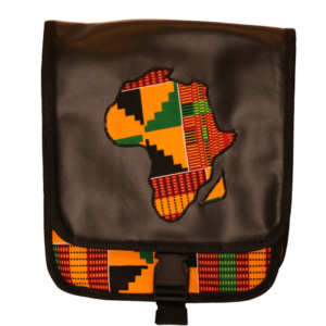 African Print Afrocentric Faux Leather Satchel Bag – Africa Map