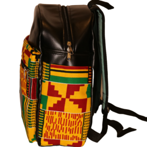 African Print Afrocentric Faux Leather Rucksack – Sankofa