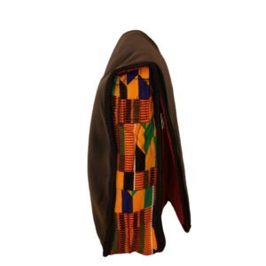 African Print Afrocentric Faux Leather Satchel Bag – Gye Nyame